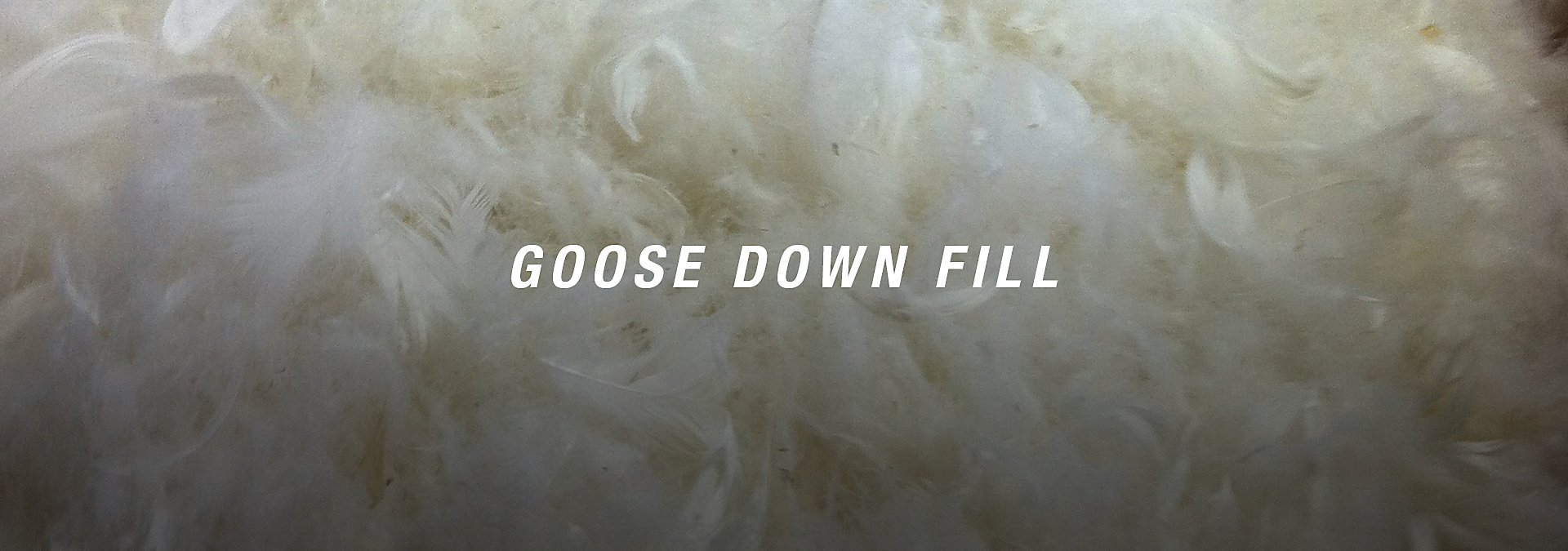 GOOSE DOWN FILL